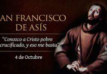 Francisco de Asís, Santo. Viernes, 4 de octubre de 2019