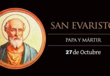 Evaristo, Santo, quinto Papa de la Iglesia y Mártir y Mártir. El Santo del día y su historia. Domingo, 27 de octubre de 2019