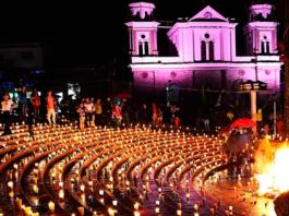 La noche de las Velitas en Colombia