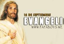 Evangelio del día, 16 de Septiembre de 2020