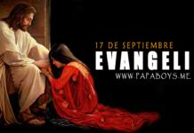 Evangelio del día, 17 de Septiembre de 2020