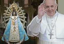 El Papa Francisco se unió espiritualmente a la 40ª Peregrinación a Nuestra Señora de Luján a Centenario